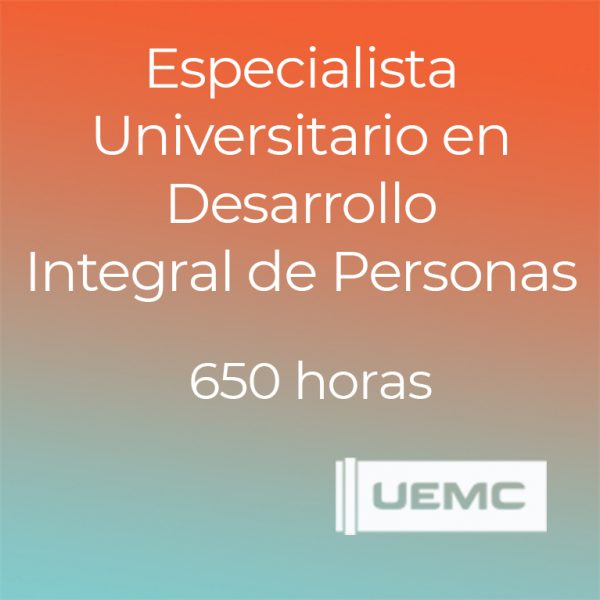 Especialista Universitario en Desarrollo Integral de Personas